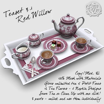 R(S)W Teaset 3.1 - Red Willow pattern
