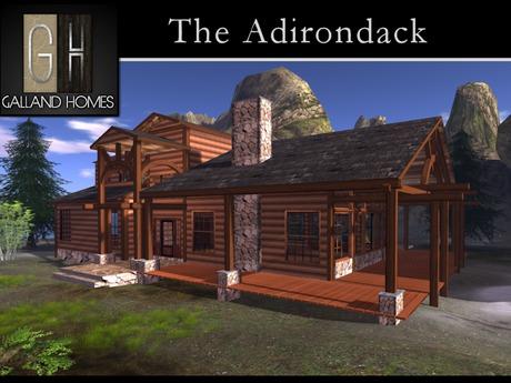The Adirondack Partial Mesh Log Home by Galland Homes - Partial Mesh Log Cabin