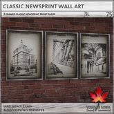 Trompe Loeil - Classic Newsprint Wall Art [mesh]