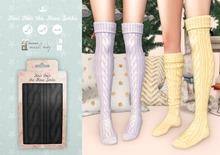 {sallie} Knit Over the Knee Socks - black
