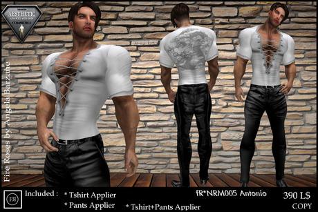 fR* NRM005 Antonio.  Niramith Aesthetic outfit, body applier for ENZO Body mesh