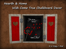 ~H&H~ Wish Came True Chalkboard