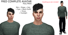Dollarbie 4 - Complete Avatar Male + Mesh Outfit (Skin + Shape + Hair + Eyes + Mesh Outfit + Shoes + Facelight)
