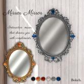 "Mirror, mirror ""Polished gold"" - Bokeh"
