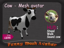 COW - FUNNY MESH AVATAR