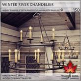 Trompe Loeil - Winter River Chandelier [mesh]