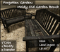 Forgotten Garden: Moldy Old Garden Bench