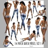 Amacci ~ 14 Back Poses, Set 1