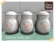 Cotton Swabs Jar ♥ CHEZ MOI