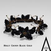 .AiShA. Holly Crown Black Gold