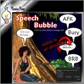 Speech Bubble - AFK, Busy, BRB, Do not disturb...