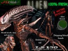 [Alien] Full mesh avatar w/animated tail & many options via HUD