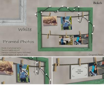 """Framed Photos """"White"""" (mesh) - Bokeh"""