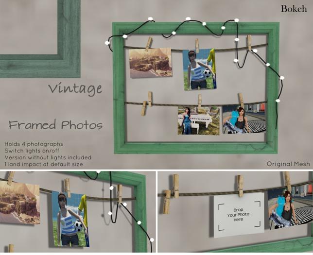 "Framed Photos ""Vintage"" (mesh) - Bokeh"