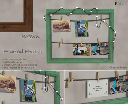 "Framed Photos """" (mesh) - Bokeh"