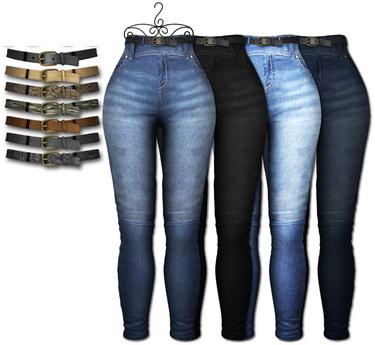 Graffitiwear Basic Bootylicious High Waist Jeans