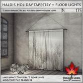 Trompe Loeil - Haldis Holiday Tapestry + Floor Lights [mesh]