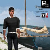 Pierre Styles Sweater TONY BLACK: Classic & Mesh: SLINK Male physique