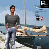 Pierre Styles Sweater TONY GREY: Classic & Mesh: SLINK Male physique