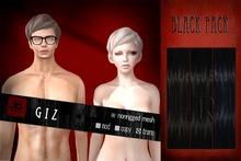 [Uw.st -7R-] Giz-hair Black pack