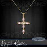 :::Krystal::: Royal Cross - Necklace - Gold (Rose)