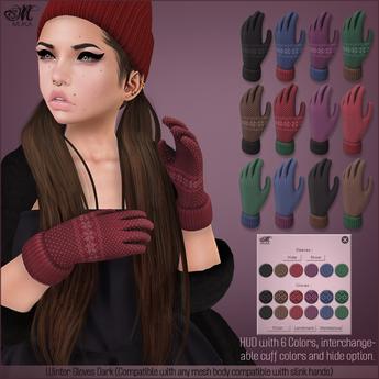 *MUKA* Winter Gloves Dark
