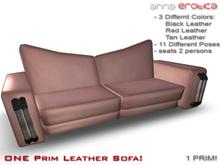 Anna Erotica - ONE Prim Leather Sofa!