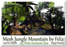 Mesh Jungle Mountain 125 Prim 60x60m Size copy-mody
