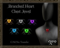 Zyn ~ Branched Heart Chest Jewel (Valentines 2016 GIFT)