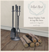 What next hanne fireplace tools logs 800