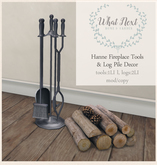 {what next} Hanne Fireplace Tools & Log Pile  (boxed)