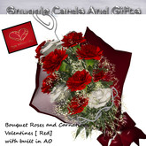 Bouquet Roses and Carnations Valentines [ Reds] *Promo Price*