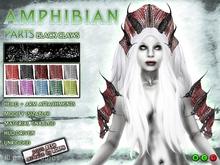 0o MORPH Amphibian parts: BLACK skin (10 color  variations / HUD driven)