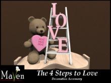 The 4 Steps to Love - Teddy Bear & Love Ladder Decor