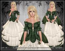 [Wishbox] Shady Grove (Garden Green) - Role Play Gown with Modesty Options. Omega Appliers: Maitreya Lara SLink Belleza