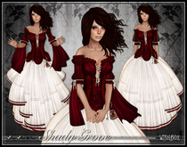 [Wishbox] Shady Grove (Red Romance) - Role Play Gown with Modesty Options. Omega Appliers: Maitreya Lara SLink Belleza