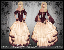 [Wishbox] Shady Grove (Sunset Pink) - Role Play Gown with Modesty Options. Omega Appliers: Maitreya Lara SLink Belleza
