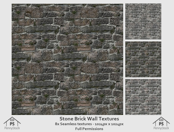 PennyStock - Seamless Old Stone Brick Wall Textures