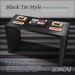 Black tie style   retro cocktail party   food table set sushi