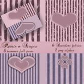 Heart n Stripes - Full Perm - Texture Pack