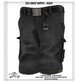 .:ZiSP:. ZKS Cargo Shorts - Black - KiDS Fitmesh