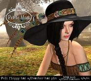 Petite Mort- Black felt floppy hat