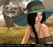 Petite Mort- Turquoise felt floppy hat (boxed)