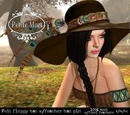 Petite Mort- Brown felt floppy hat