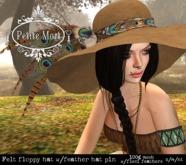 Petite Mort- Tan felt floppy hat