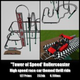 Tower of Speed Rollercoaster *0.190ms* High Speed Thrill Ride