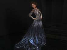 Paris METRO Couture: Silver Sky Gown with Mesh Appliers
