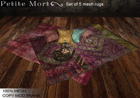 Petite Mort- Boho Brights MESH set of 5 Rugs