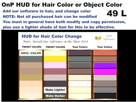OnP HUD Hair Color Changer and Object Color Changer