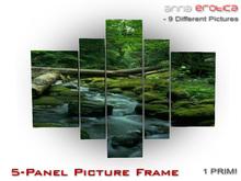 Anna Erotica - 5-Panel Picture Frame - 1 Prim!  (box)